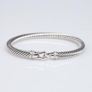 David Yurman 5mm Cable Buckle Diamond Bracelet